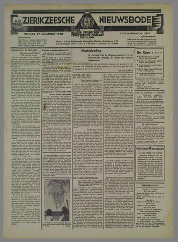 Zierikzeesche Nieuwsbode 1940-12-27