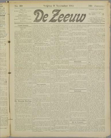 De Zeeuw. Christelijk-historisch nieuwsblad voor Zeeland 1917-11-02