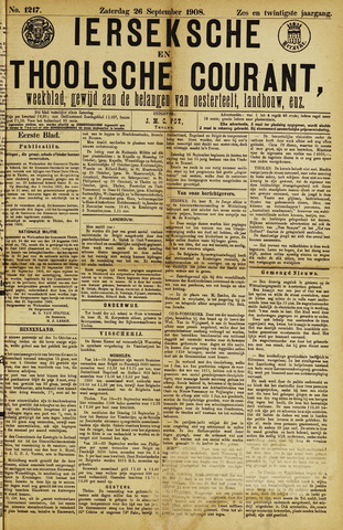 Ierseksche en Thoolsche Courant 1908-09-26
