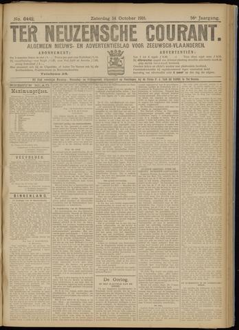 Ter Neuzensche Courant. Algemeen Nieuws- en Advertentieblad voor Zeeuwsch-Vlaanderen / Neuzensche Courant ... (idem) / (Algemeen) nieuws en advertentieblad voor Zeeuwsch-Vlaanderen 1916-10-14