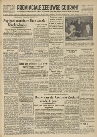 Provinciale Zeeuwse Courant 1952-04-11