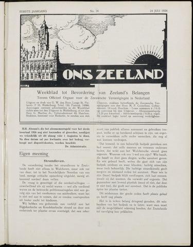 Ons Zeeland / Zeeuwsche editie 1926-07-24