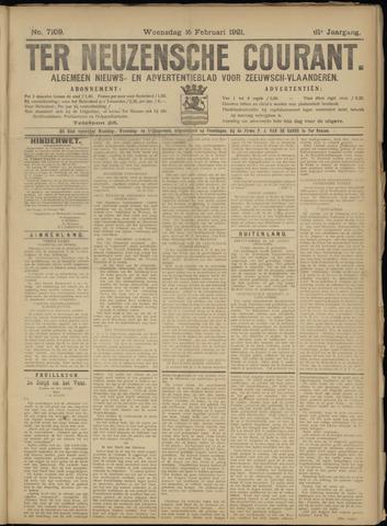 Ter Neuzensche Courant. Algemeen Nieuws- en Advertentieblad voor Zeeuwsch-Vlaanderen / Neuzensche Courant ... (idem) / (Algemeen) nieuws en advertentieblad voor Zeeuwsch-Vlaanderen 1921-02-16