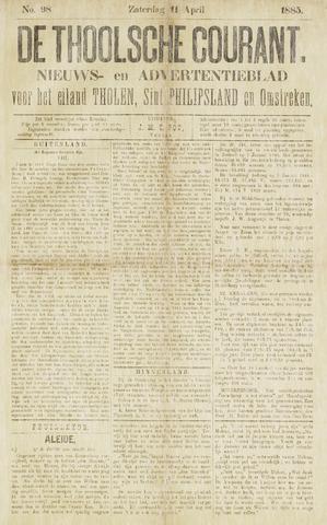 Ierseksche en Thoolsche Courant 1885-04-11