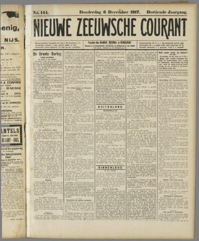 Nieuwe Zeeuwsche Courant 1917-12-06