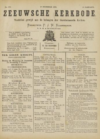 Zeeuwsche kerkbode, weekblad gewijd aan de belangen der gereformeerde kerken/ Zeeuwsch kerkblad 1890-12-27