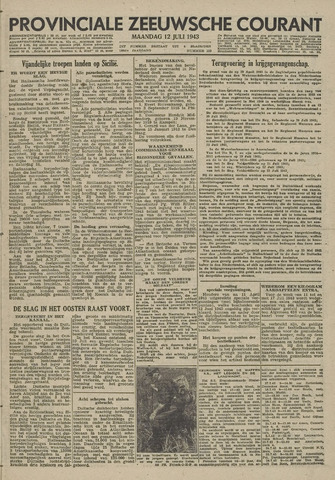 Provinciale Zeeuwse Courant 1943-07-12