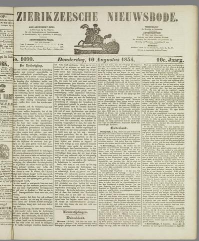 Zierikzeesche Nieuwsbode 1854-08-10