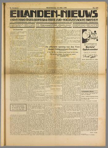 Eilanden-nieuws. Christelijk streekblad op gereformeerde grondslag 1935-05-15