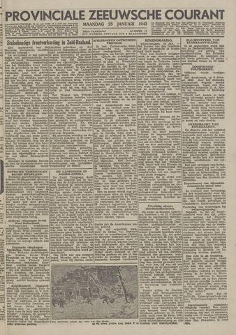 Provinciale Zeeuwse Courant 1943-01-25