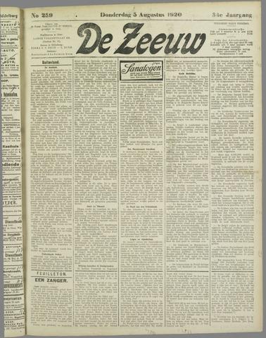De Zeeuw. Christelijk-historisch nieuwsblad voor Zeeland 1920-08-05