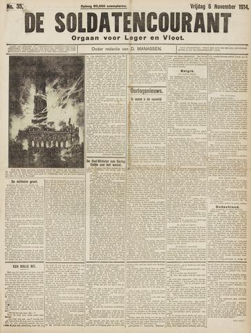 De Soldatencourant. Orgaan voor Leger en Vloot 1914-11-06