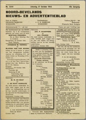 Noord-Bevelands Nieuws- en advertentieblad 1945-10-27