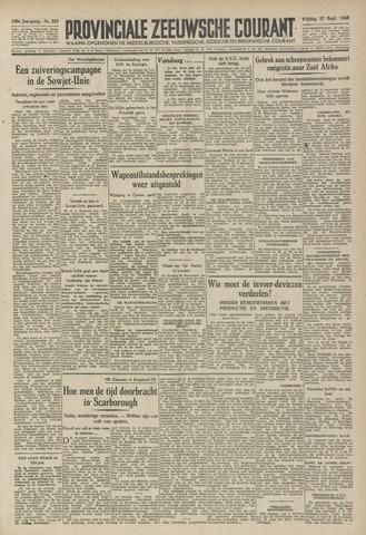 Provinciale Zeeuwse Courant 1946-09-27