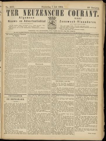 Ter Neuzensche Courant. Algemeen Nieuws- en Advertentieblad voor Zeeuwsch-Vlaanderen / Neuzensche Courant ... (idem) / (Algemeen) nieuws en advertentieblad voor Zeeuwsch-Vlaanderen 1904-07-07