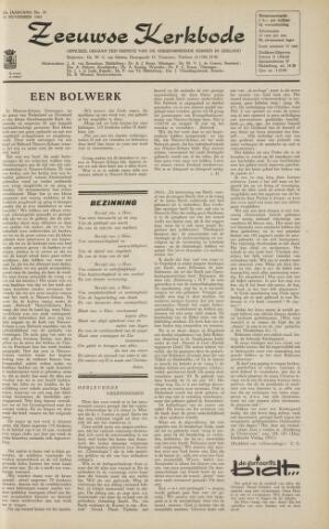 Zeeuwsche kerkbode, weekblad gewijd aan de belangen der gereformeerde kerken/ Zeeuwsch kerkblad 1963-11-15