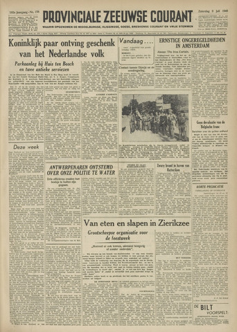 Provinciale Zeeuwse Courant 1949-07-09