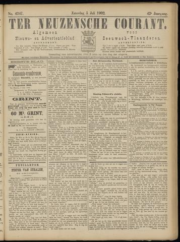 Ter Neuzensche Courant. Algemeen Nieuws- en Advertentieblad voor Zeeuwsch-Vlaanderen / Neuzensche Courant ... (idem) / (Algemeen) nieuws en advertentieblad voor Zeeuwsch-Vlaanderen 1902-07-05