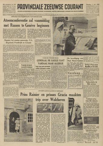 Provinciale Zeeuwse Courant 1958-07-01