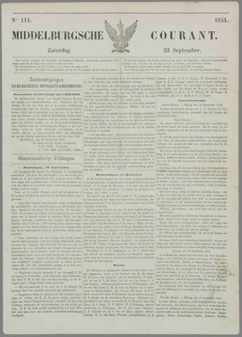 Middelburgsche Courant 1854-09-23