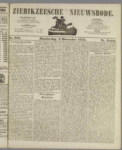 Zierikzeesche Nieuwsbode 1852-12-02