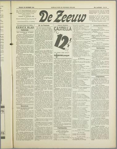 De Zeeuw. Christelijk-historisch nieuwsblad voor Zeeland 1934-11-30