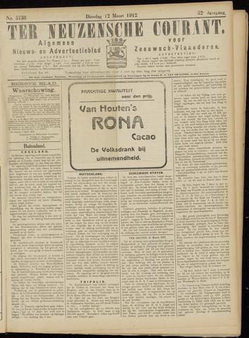 Ter Neuzensche Courant. Algemeen Nieuws- en Advertentieblad voor Zeeuwsch-Vlaanderen / Neuzensche Courant ... (idem) / (Algemeen) nieuws en advertentieblad voor Zeeuwsch-Vlaanderen 1912-03-12