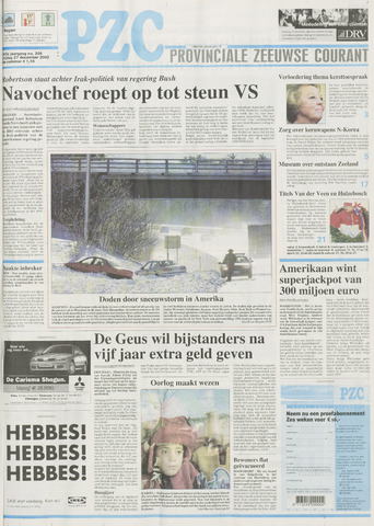 Provinciale Zeeuwse Courant 2002-12-27