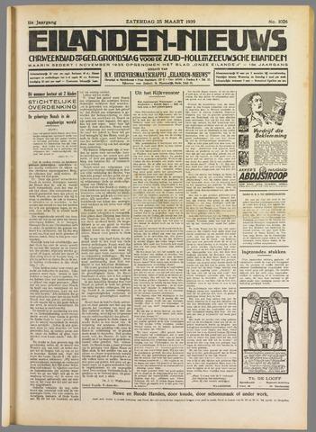 Eilanden-nieuws. Christelijk streekblad op gereformeerde grondslag 1939-03-25