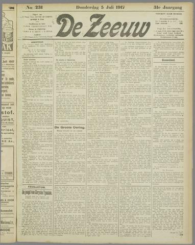De Zeeuw. Christelijk-historisch nieuwsblad voor Zeeland 1917-07-05