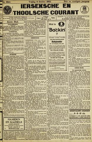 Ierseksche en Thoolsche Courant 1925-10-09