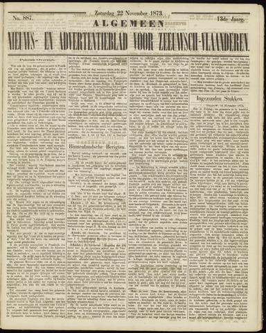 Ter Neuzensche Courant. Algemeen Nieuws- en Advertentieblad voor Zeeuwsch-Vlaanderen / Neuzensche Courant ... (idem) / (Algemeen) nieuws en advertentieblad voor Zeeuwsch-Vlaanderen 1873-11-22