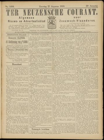 Ter Neuzensche Courant. Algemeen Nieuws- en Advertentieblad voor Zeeuwsch-Vlaanderen / Neuzensche Courant ... (idem) / (Algemeen) nieuws en advertentieblad voor Zeeuwsch-Vlaanderen 1910-08-27