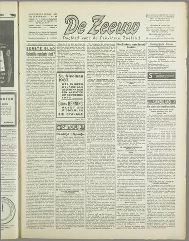 De Zeeuw. Christelijk-historisch nieuwsblad voor Zeeland 1937-11-25