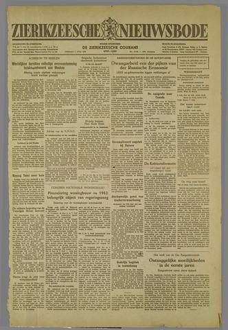 Zierikzeesche Nieuwsbode 1952-07-01