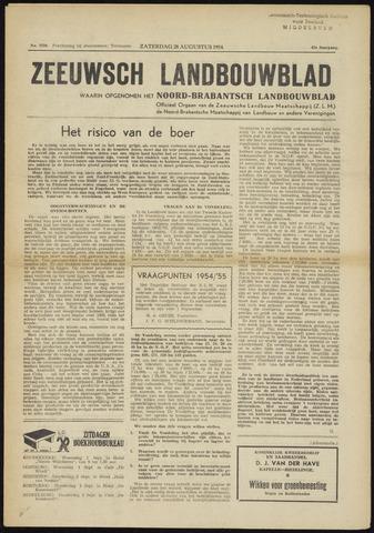 Zeeuwsch landbouwblad ... ZLM land- en tuinbouwblad 1954-08-28