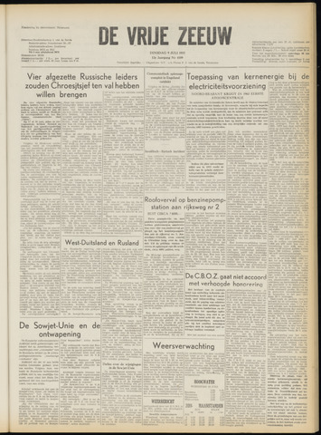 de Vrije Zeeuw 1957-07-09