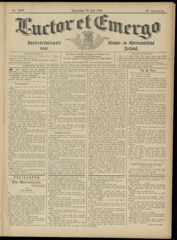 Luctor et Emergo. Antirevolutionair nieuws- en advertentieblad voor Zeeland / Zeeuwsch-Vlaanderen. Orgaan ter verspreiding van de christelijke beginselen in Zeeuwsch-Vlaanderen 1915-07-31