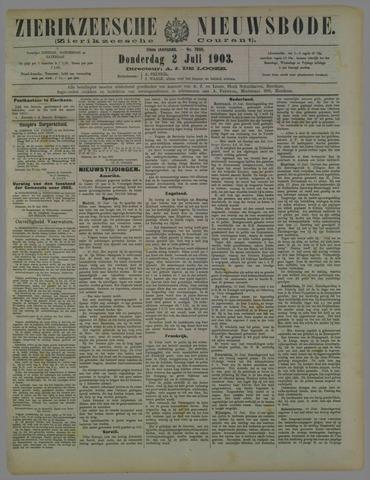 Zierikzeesche Nieuwsbode 1903-07-02