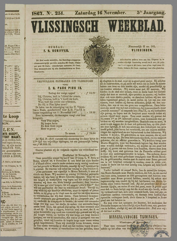 Vlissings Weekblad 1867-11-16