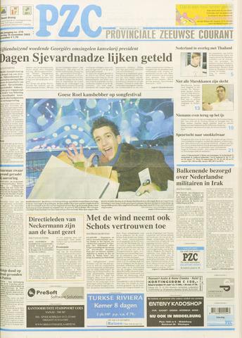 Provinciale Zeeuwse Courant 2003-11-15