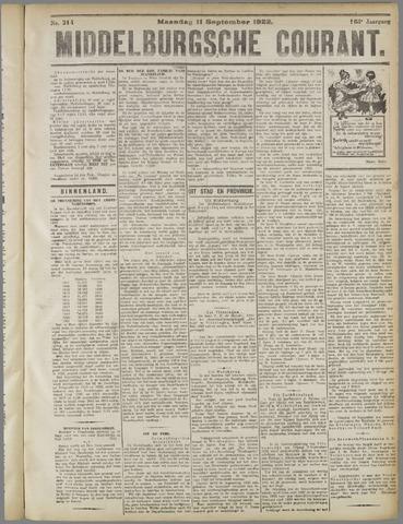 Middelburgsche Courant 1922-09-11
