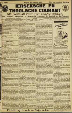 Ierseksche en Thoolsche Courant 1927-01-21