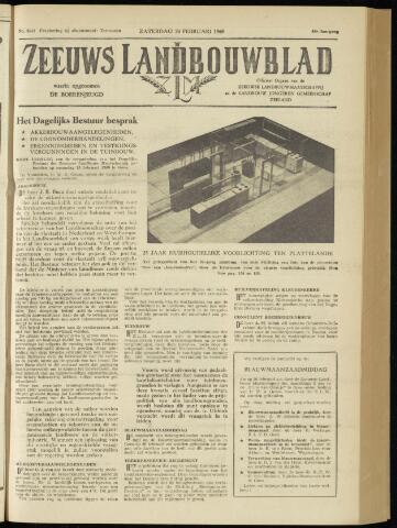 Zeeuwsch landbouwblad ... ZLM land- en tuinbouwblad 1960-02-20