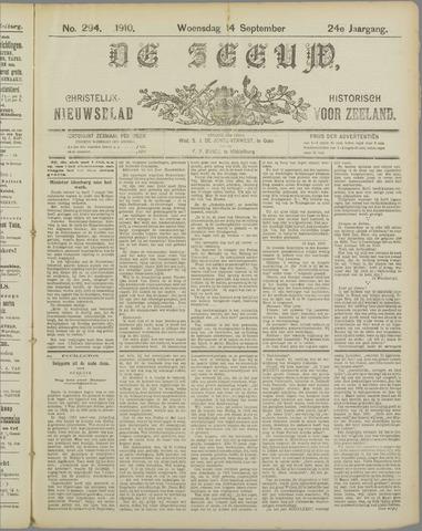 De Zeeuw. Christelijk-historisch nieuwsblad voor Zeeland 1910-09-14