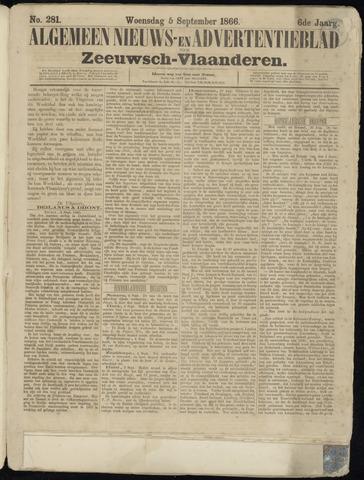 Ter Neuzensche Courant. Algemeen Nieuws- en Advertentieblad voor Zeeuwsch-Vlaanderen / Neuzensche Courant ... (idem) / (Algemeen) nieuws en advertentieblad voor Zeeuwsch-Vlaanderen 1866-09-05