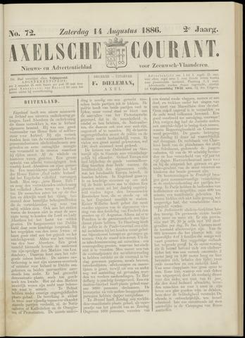 Axelsche Courant 1886-08-14