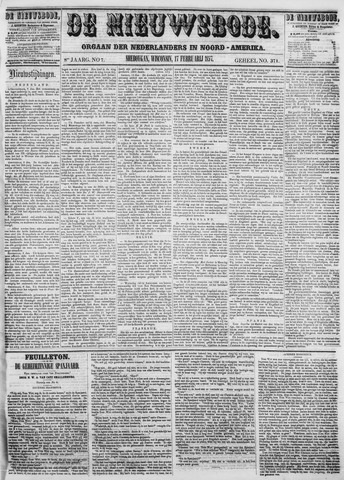 Sheboygan Nieuwsbode 1857-02-17