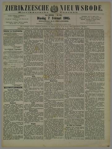 Zierikzeesche Nieuwsbode 1905-02-07