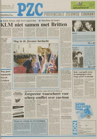 Provinciale Zeeuwse Courant 1992-02-28